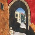 Grecian Passageway by Marsha Elliott