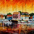 Greece - Fiskardos  by Leonid Afremov