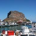 Greece Island Harbor by Judith Lowrey
