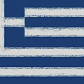 Greek Flag Smudged by Roy Pedersen