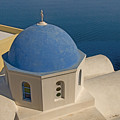 Greek Island Dome by Charles  Ridgway