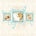 Greek Key Nautilus Starfish N Conch Shells by Audrey Jeanne Roberts