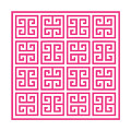 Greek Key With Border In French Pink by Custom Home Fashions