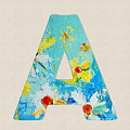 Letter A Roman Alphabet - A Floral Expression, Typography Art by Patricia Awapara