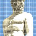 Greek Statue #2 - Blue by Gary Hogben