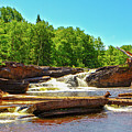 Greenstone Falls, Wi by Jeff Kurtz