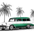 Green 56 Chevy Wagon by Peter Piatt