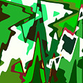 Green Abstract Squared #2 by Regina Geoghan