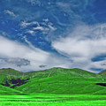 Green And Blue Landscape by Anton J Pisani