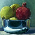 Green Apples And A Pomegranate by Linda Vespasian