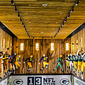 Green Bay Packers Uniforms Then And Now by Stephanie Forrer-Harbridge