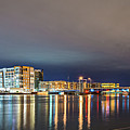 Green Bay Wisconsin City Skyline At Night by Alex Grichenko
