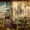 Green Bike Crooked Door by Bellesouth Studio