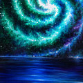 Green-blue Galaxy And Ocean. Planet Dzekhtsaghee by Sofia Metal Queen