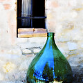 Green Bottle Italian Window by Marilyn Hunt