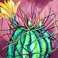 Green Cactus  by Alexandra Chelebiyska