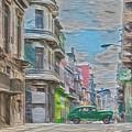 Green Car In Cuba by David Frigerio