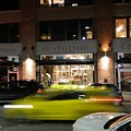 Green Car Zooming Through Yaletown by Helen Orth