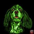 Green Cocker Spaniel Pop Art - 8249 - Bb by James Ahn