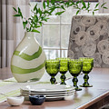 Green Decor Dinning Table Place Settings by Betty Denise