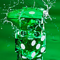 Green Dice Splash by Steve Gadomski