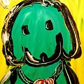 Green Dog by Mark Kazav