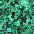 Green Floral Pattern by Aimee L Maher ALM GALLERY
