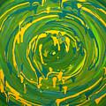 Green Forest Swirl by Preethi Mathialagan