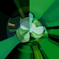 Green Glass Wheels by Digital Painting