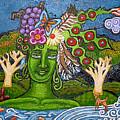 Green Goddesswith Waterfall2 by Genevieve Esson