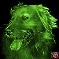 Green Golden Retriever - 4057 Bb by James Ahn
