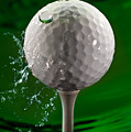 Green Golf Ball Splash by Steve Gadomski