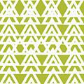 Green Graphic Diamond Pattern by Saundra Myles