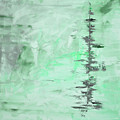 Green Gray Abstract by Voros Edit