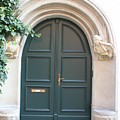 Green Guarded Door by Christiane Schulze Art And Photography