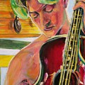 Green Hair Red Bass by Dennis Tawes