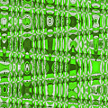 Green Heavy Screen Abstract by Tom Janca