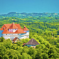Green Hills Of Zagorje Region And Veliki Tabor Castle View by Brch Photography