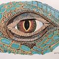 Green Iguana Eye by Graham Wallwork