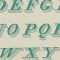 Green Italic Font by English School