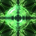 Green Leaf Mild Abstract by Vincent Duis