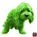 Green Lhasa Apso Pop Art - 5331 - Wb by James Ahn
