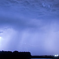 Green Lightning Bolt Ball And Blue Lightning Sky by James BO  Insogna