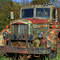 Green Mack Truck by Jerry Gammon