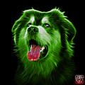 Green Malamute Dog Art - 6536 - Bb by James Ahn