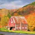 Green Mountains Barn by Betty LaRue