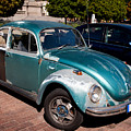 Green Old Vintage Volkswagen Car by Arletta Cwalina