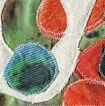 Green Orange Abstract 1  by Elizabetha Fox