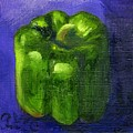Green Pepper On Linen by Gloria Condon