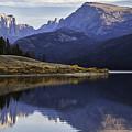 Green River Lake Fly-fisherman by Daryl L Hunter